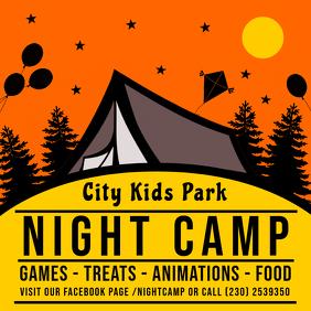 Illustrated Summer Camp Instagram Advert