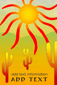 illustration image of a american desert with saguaro cacti