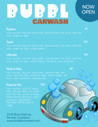 Illustrative Car Wash Price List Templates