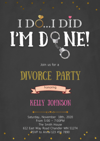 Im done divorce party invitation