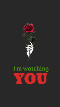 Im watching you mobile lock screen wallpaper Instagram Story template