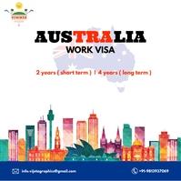 immigration Australia Work Visa Instagram Post template