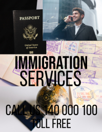 IMMIGRATION POSTER/FLYER template