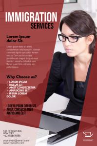Immigration Services Flyer Design Template