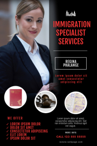 immigration Services Flyer Design Template