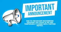 Important Announcement By Megaphone Customers Image partagée Facebook template