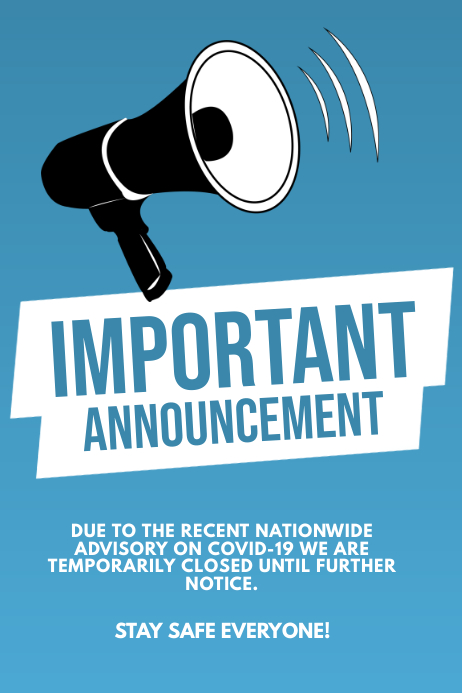 Important announcement flyer template Iphosta