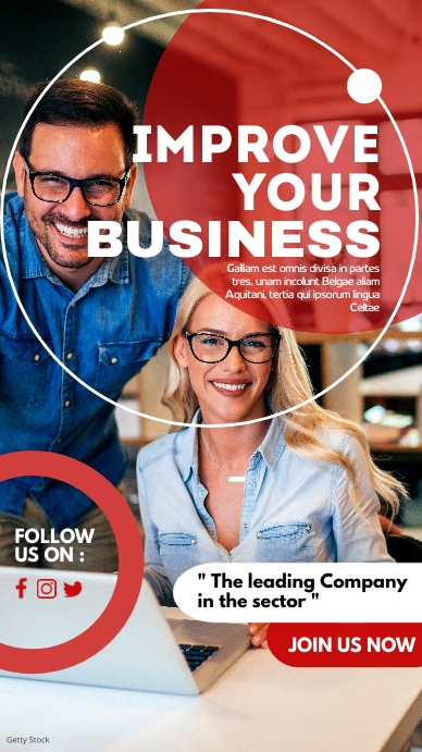 improve your business marketing corporate adv Instagram-verhaal template