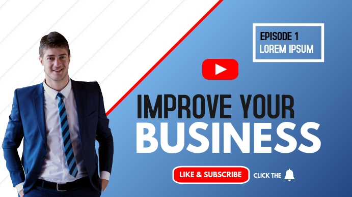 improve your business webinar youtube thumbna template