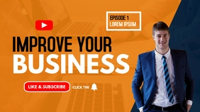 improve your business youtube thumbnail template