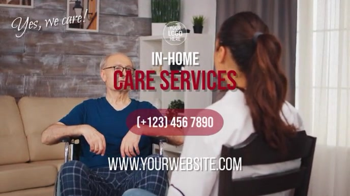 In-Home Care Services Digital na Display (16:9) template
