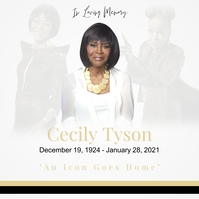 In Loving Memory - Cecily Tyson Message Instagram template