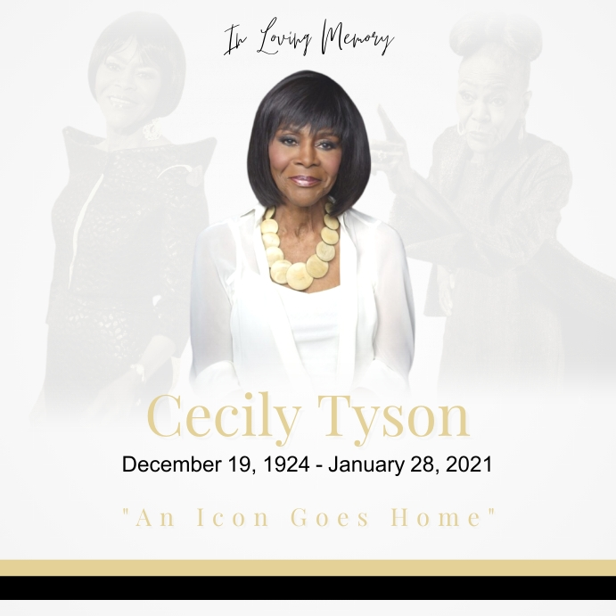 In Loving Memory - Cecily Tyson Instagram-opslag template