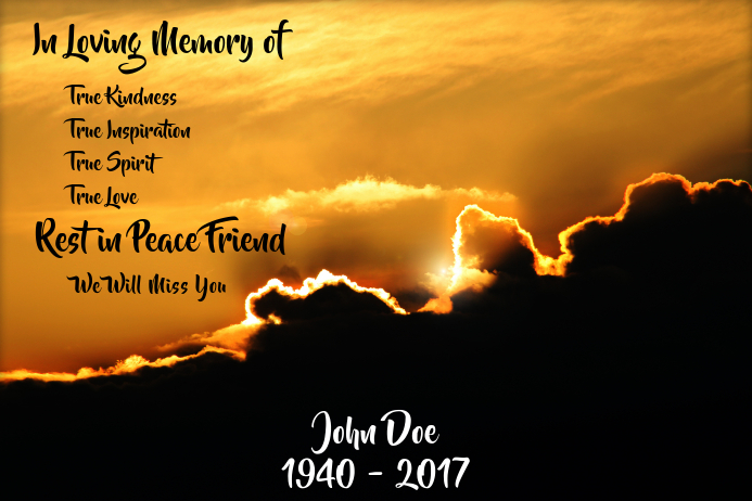 In Loving Memory Template | PosterMyWall