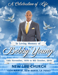 IN LOVING MEMORY FUNERAL FLYER TEMPLATE