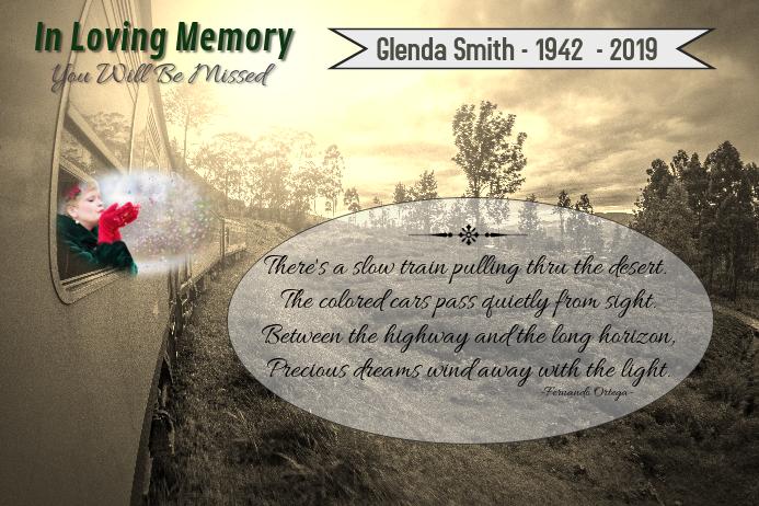 In Loving Memory/In Memorium/Funeral Poster/ Vintage/Goodbye