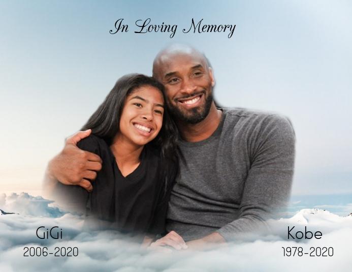 In Loving Memory Kobe Bryant Pamflet (Letter AS) template