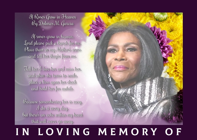 In Loving Memory of Postkort template
