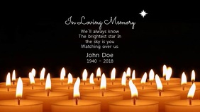 In Loving Memory Video Film w tle na Facebooka (16:9) template