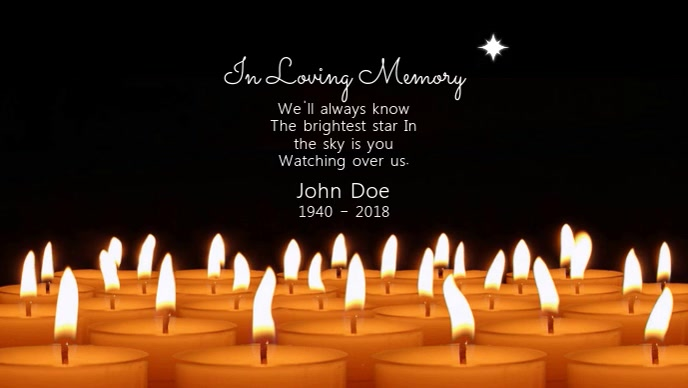 In Loving Memory Video template