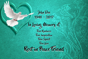 customizable design templates for rest in peace in loving memory