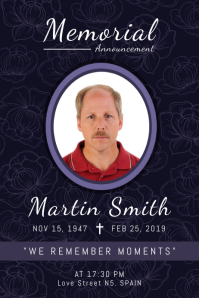 In Memory of Funeral Service Poster