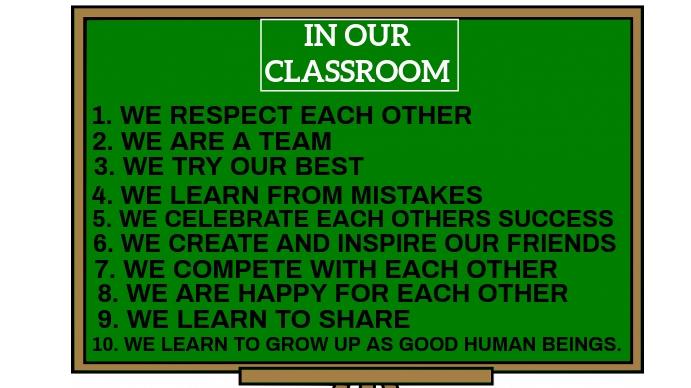 IN OUR CLASSROOM BOARD TEMPLATE งานนำเสนอ Presentation (16:9)