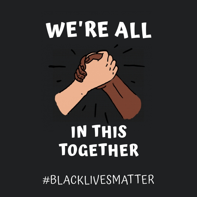 In This Together Black Lives Matter Quote Soc Template Postermywall
