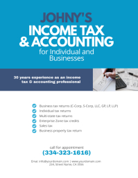 Income Tax & Accounting Flyer Template