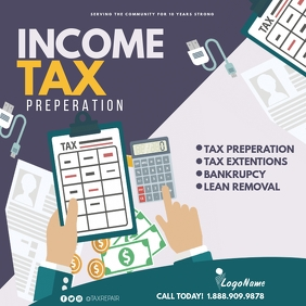 Income tax Instagram Post template