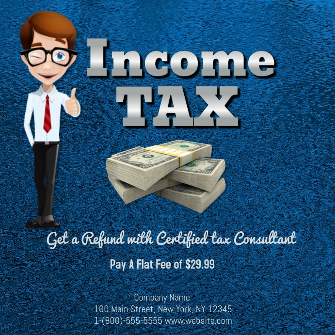 Income tax Template | PosterMyWall