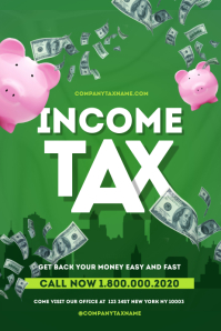 Income Tax Poster Templates