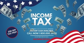 Income Tax office facebook Template
