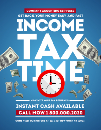 Income Tax TIME Flyer Template