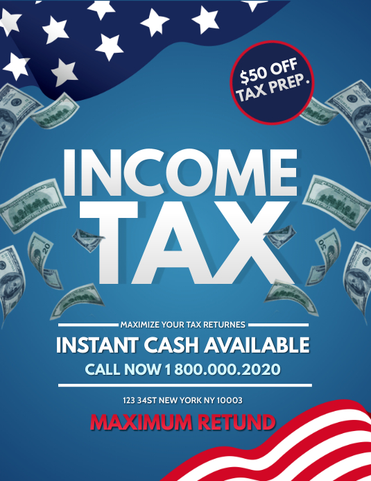 Income Tax office Flyer Template