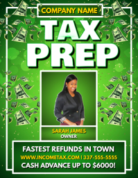 INCOME TAX PREP FLYER TEMPLATE