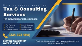 Income Tax Prep Service Banner Ad