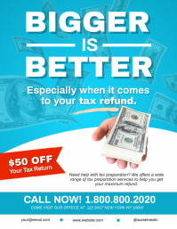 Income Tax Preparation Flyer Template