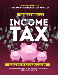 income tax refund Flyer Templates