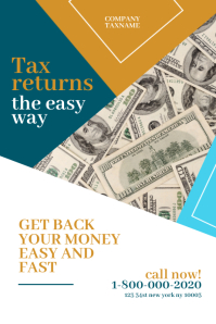 income tax refund PosterTemplates