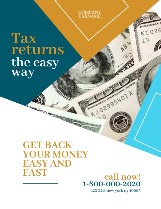 income tax refund Video Flyer Templates