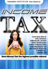 Income TAx template A4 Poster Flyer