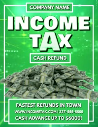INCOME TAX VIDEO FLYER TEMPLATE
