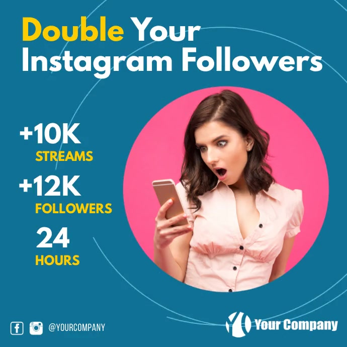 Increase your Followers service instagram ad Instagram-bericht template