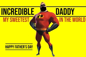 Incredible Father's Day Template Poster