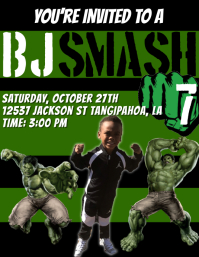 Incredible Hulk Party Flyer (US Letter) template