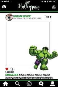 Incredible Hulk Party Prop Frame