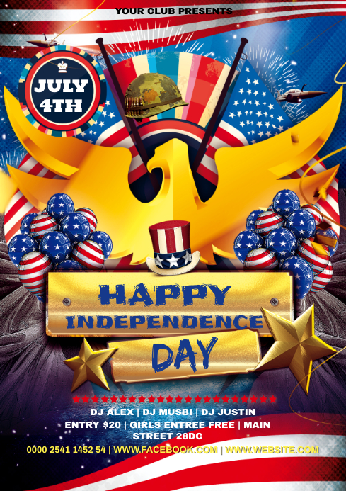 INDEPENDANCE DAY A4 template