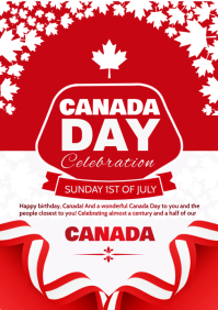 Independence Canada Day 1st July A4 template