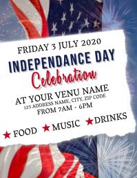 Independence Celebration Event Flyer Template